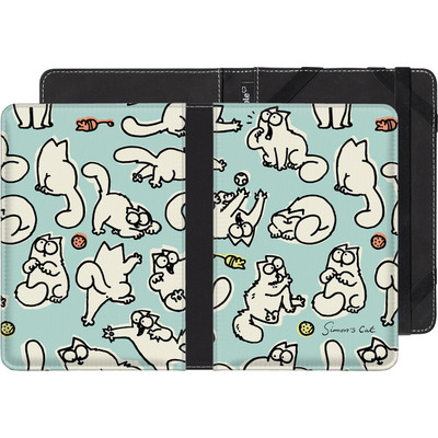 Pocketbook Touch Lux eBook Reader Huelle - Simon´s Cat Green Pattern von Simons Cat