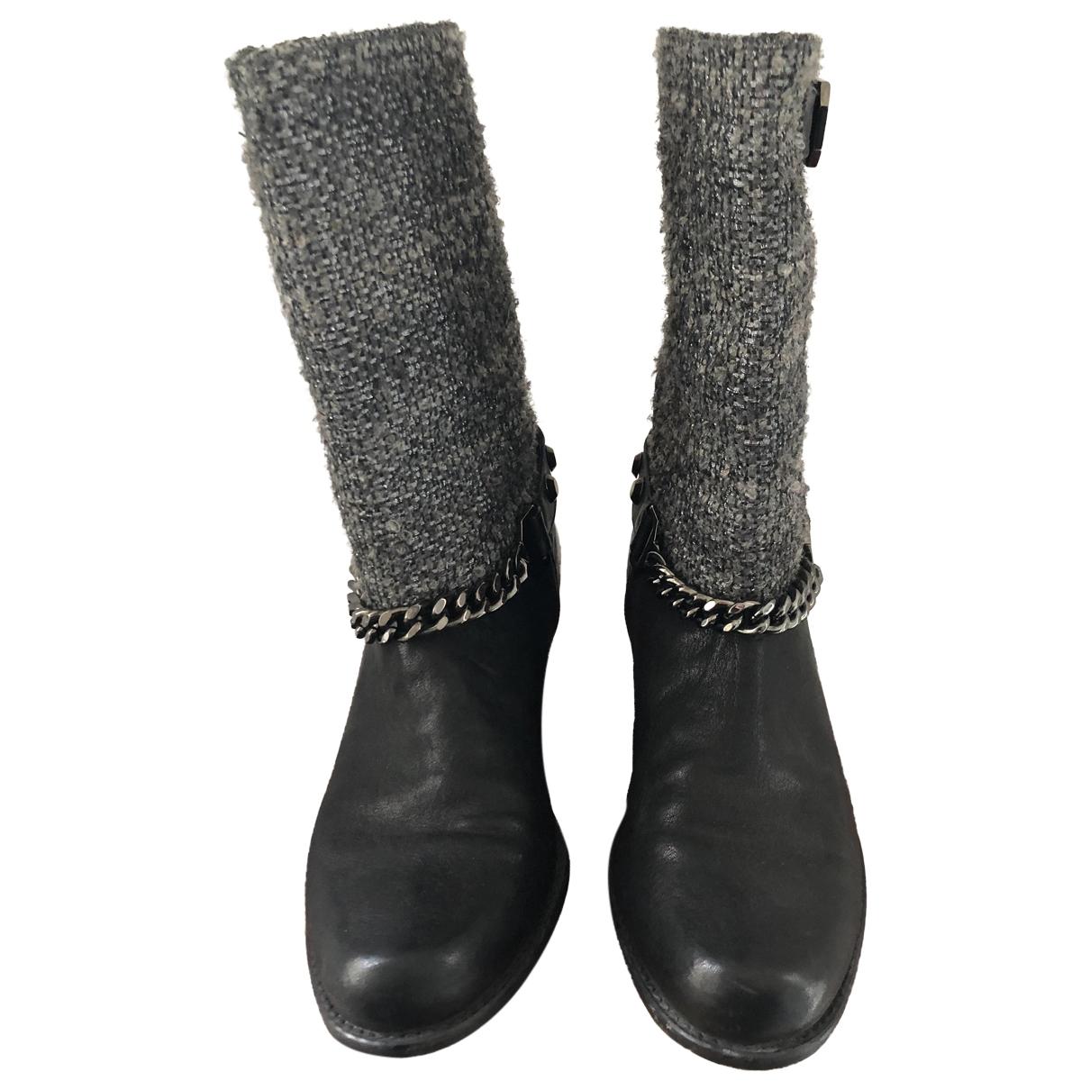 Stuart Weitzman \N Black Leather Boots for Women 39 EU