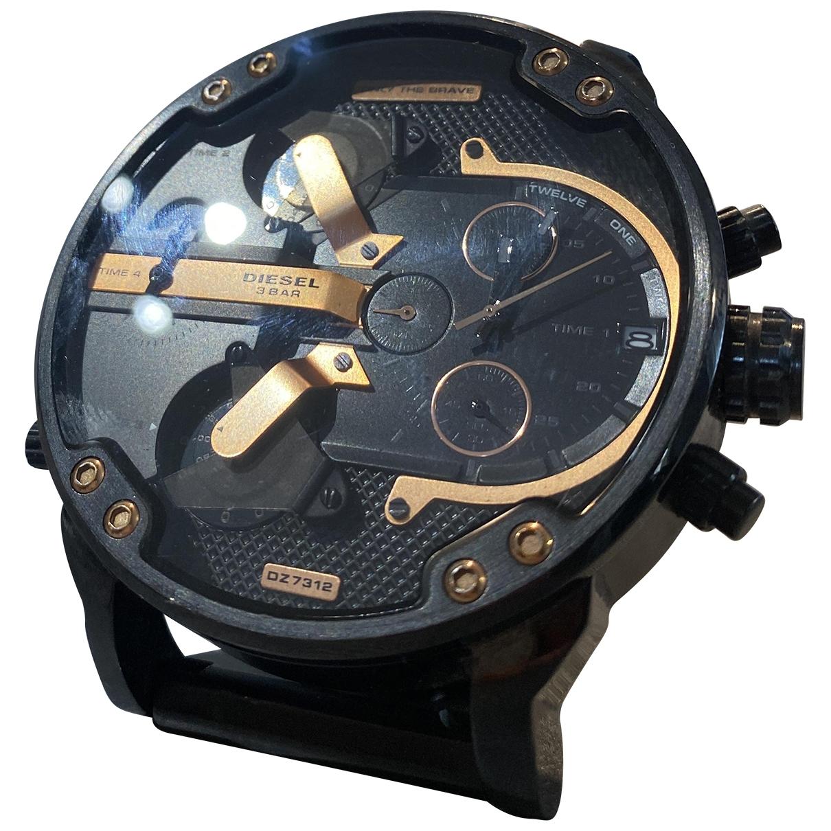 Diesel \N Uhr in  Schwarz Stahl