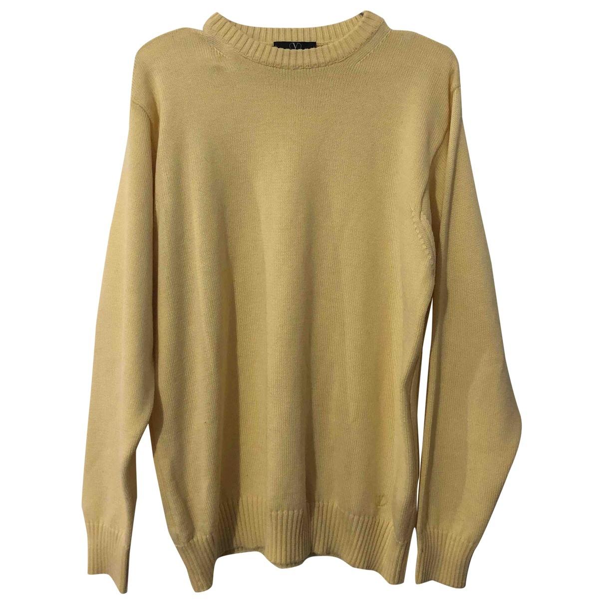 Valentino Garavani \N Pullover.Westen.Sweatshirts  in  Gelb Baumwolle