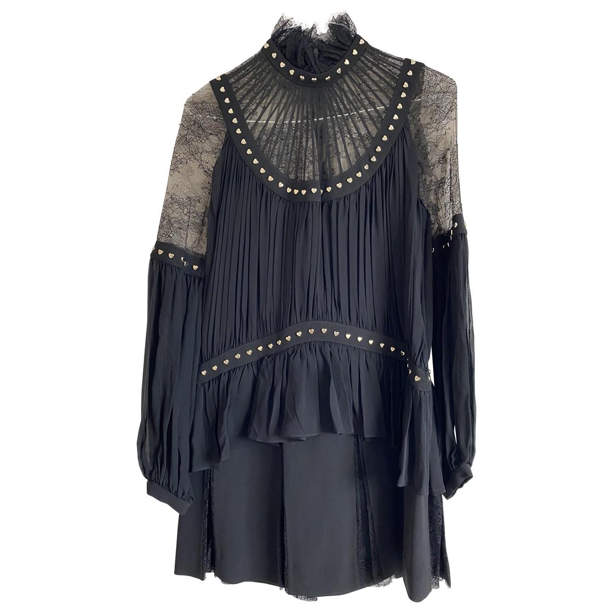 Elie Saab \N Kleid in  Schwarz Seide