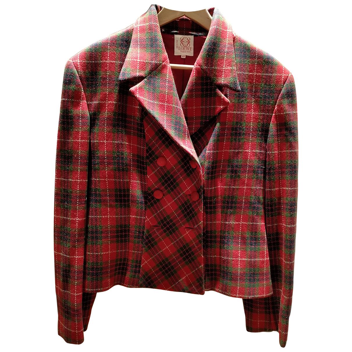 Loewe - Veste   pour femme en laine - rouge