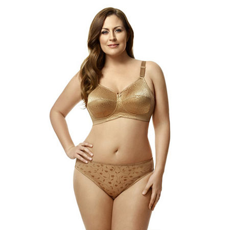Elila Leopard Lace Softcup Full Coverage Bra, Dd , Brown