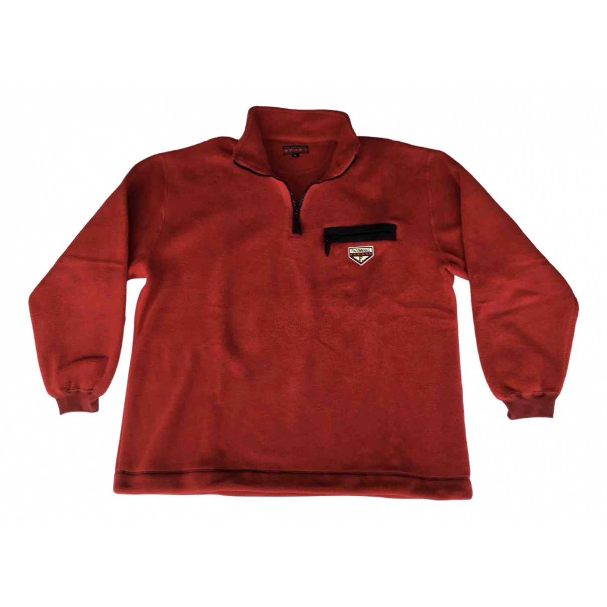 Faconnable \N Pullover.Westen.Sweatshirts  in  Rot Polyester