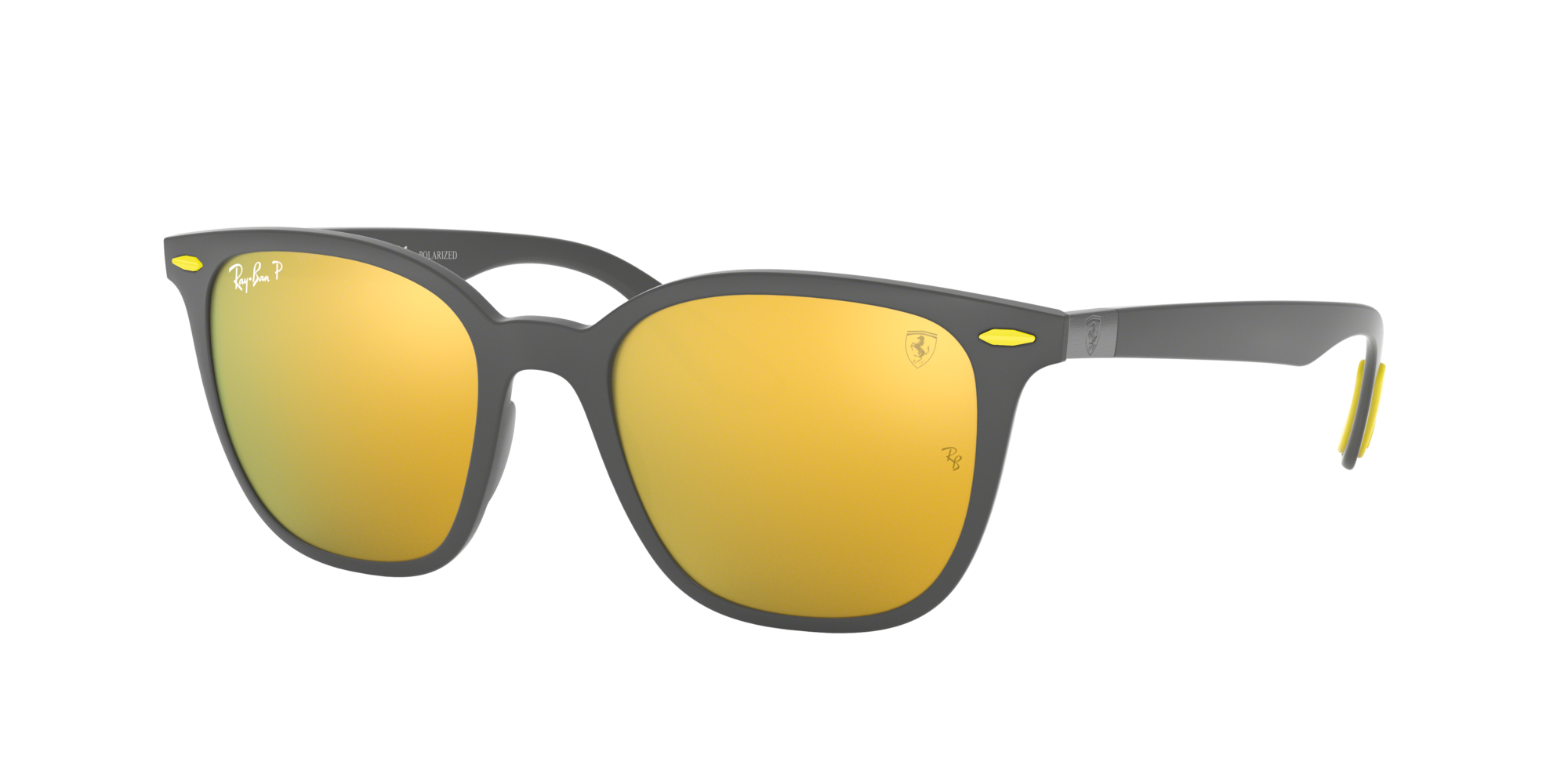 Ray Ban Unisex  RB4297M SCUDERIA FERRARI COLLECTION -  Frame color: Gris, Lens color: Or, Size 51-19/150