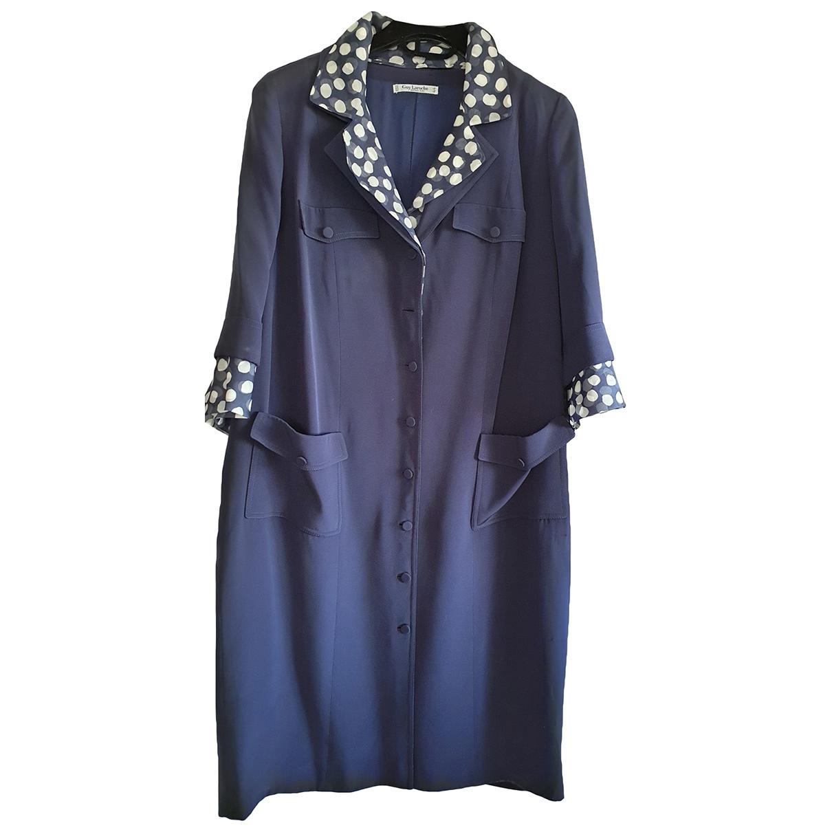 Guy Laroche - Robe   pour femme en soie - bleu
