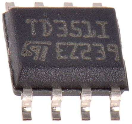 STMicroelectronics TD351ID High Side MOSFET Power Driver, 1.7A 8-Pin, SOIC (2)