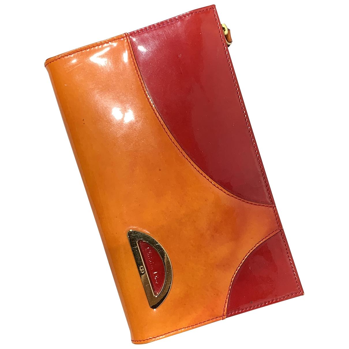 Dior \N Portemonnaie in  Orange Lackleder