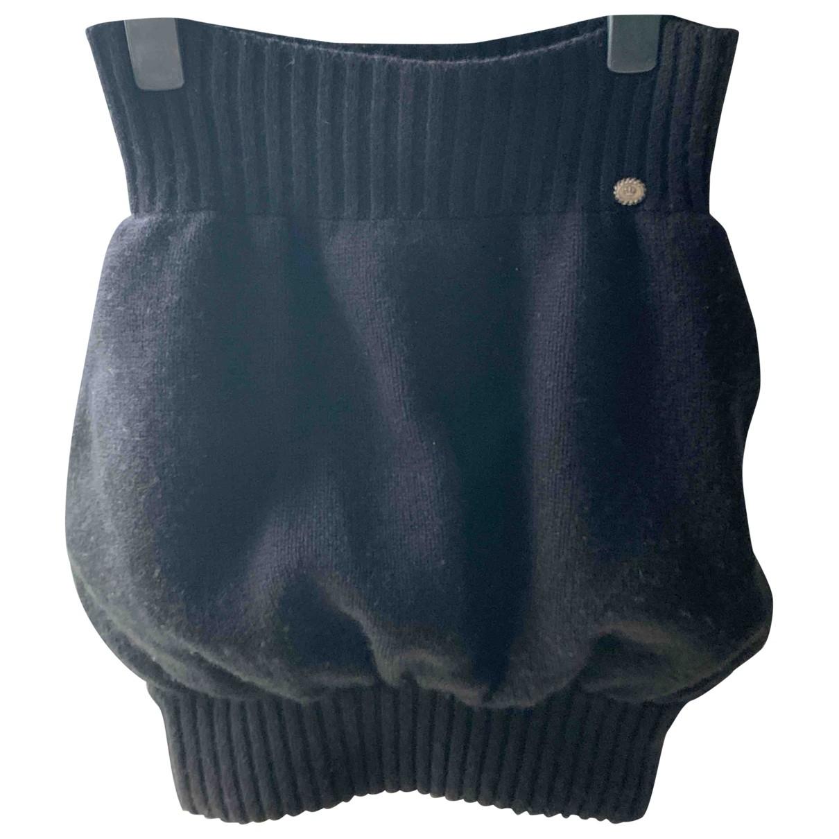 Chanel \N Black Cashmere skirt for Women 34 FR