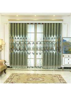 Blackout Hollowed-out Elegance Luxury Jacquard Curtain