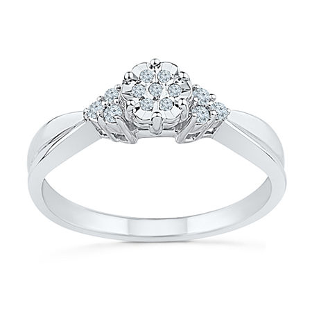 Promise My Love Womens 1/10 CT. T.W. Genuine White Diamond Sterling Silver Promise Ring, 9 , No Color Family