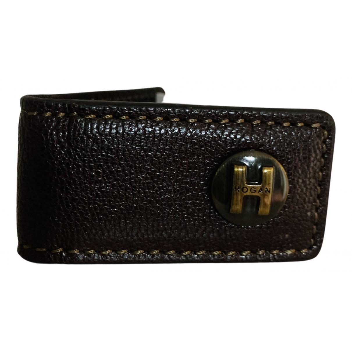 Hogan N Brown Leather Small bag, wallet & cases for Men N