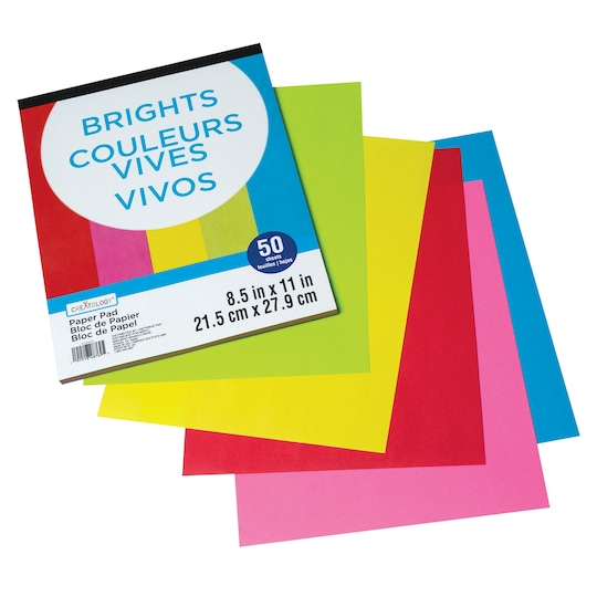 12 Pack: Brights Paper Pad By Creatology™, 8.5