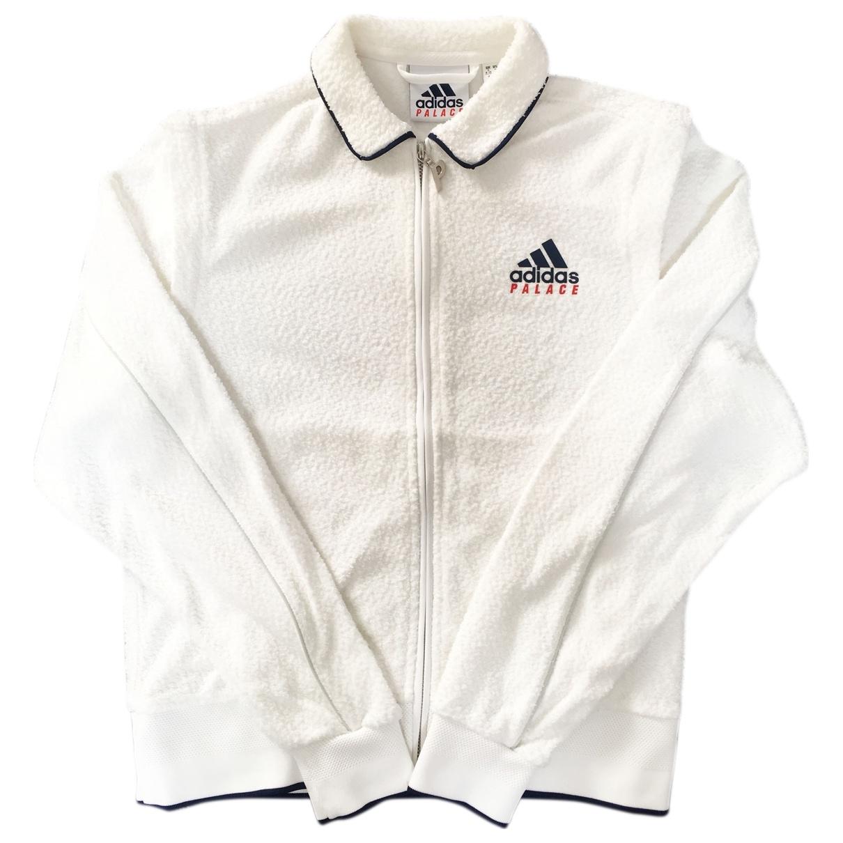 Palace X Adidas - Veste   pour femme en coton - blanc