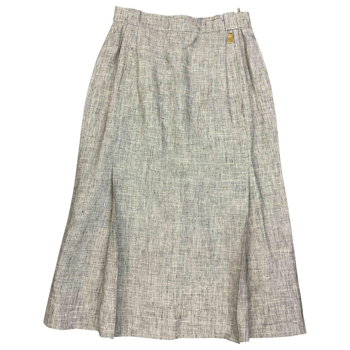 Aigner \N Grey Cotton skirt for Women 38 FR