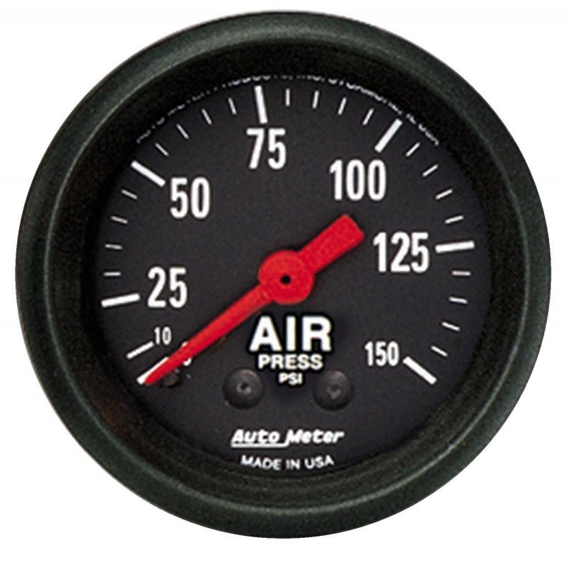 AutoMeter GAUGE; AIR PRESS; 2 1/16in.; 150PSI; MECHANICAL; Z-SERIES