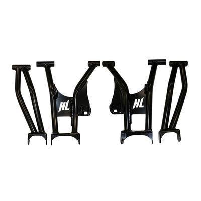 High Lifter Products Rear Raked Control Arm Set (Black) - MCRRA-RZR9-2-B