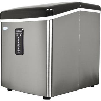 AI100SS Portable Ice Maker with 28 Lbs. Daily Ice Making Capacity  Removable Ice Bin  Ice Storage  Automatic Overflow Protection  LED Display and Ice