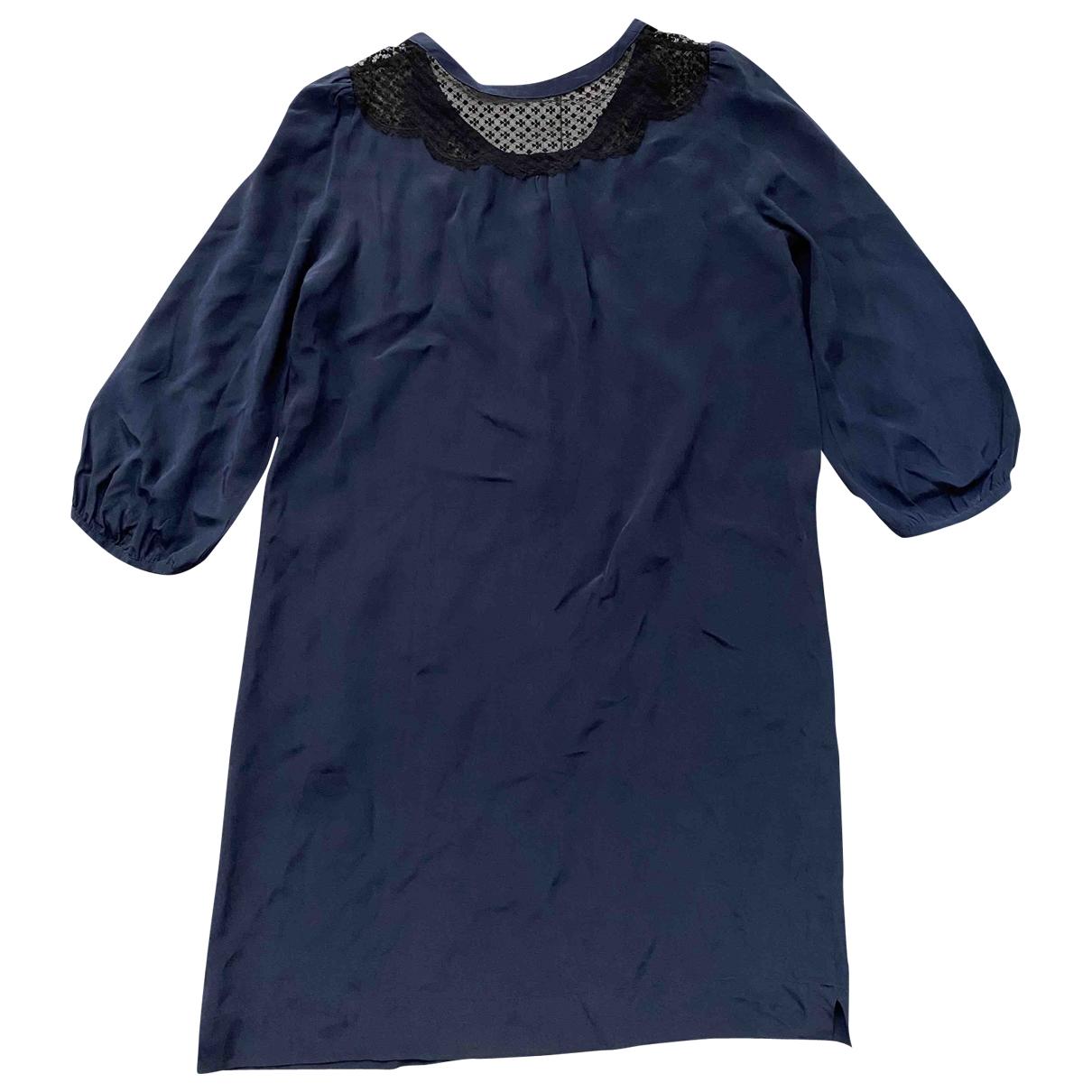 Pablo - Robe   pour femme en soie - marine