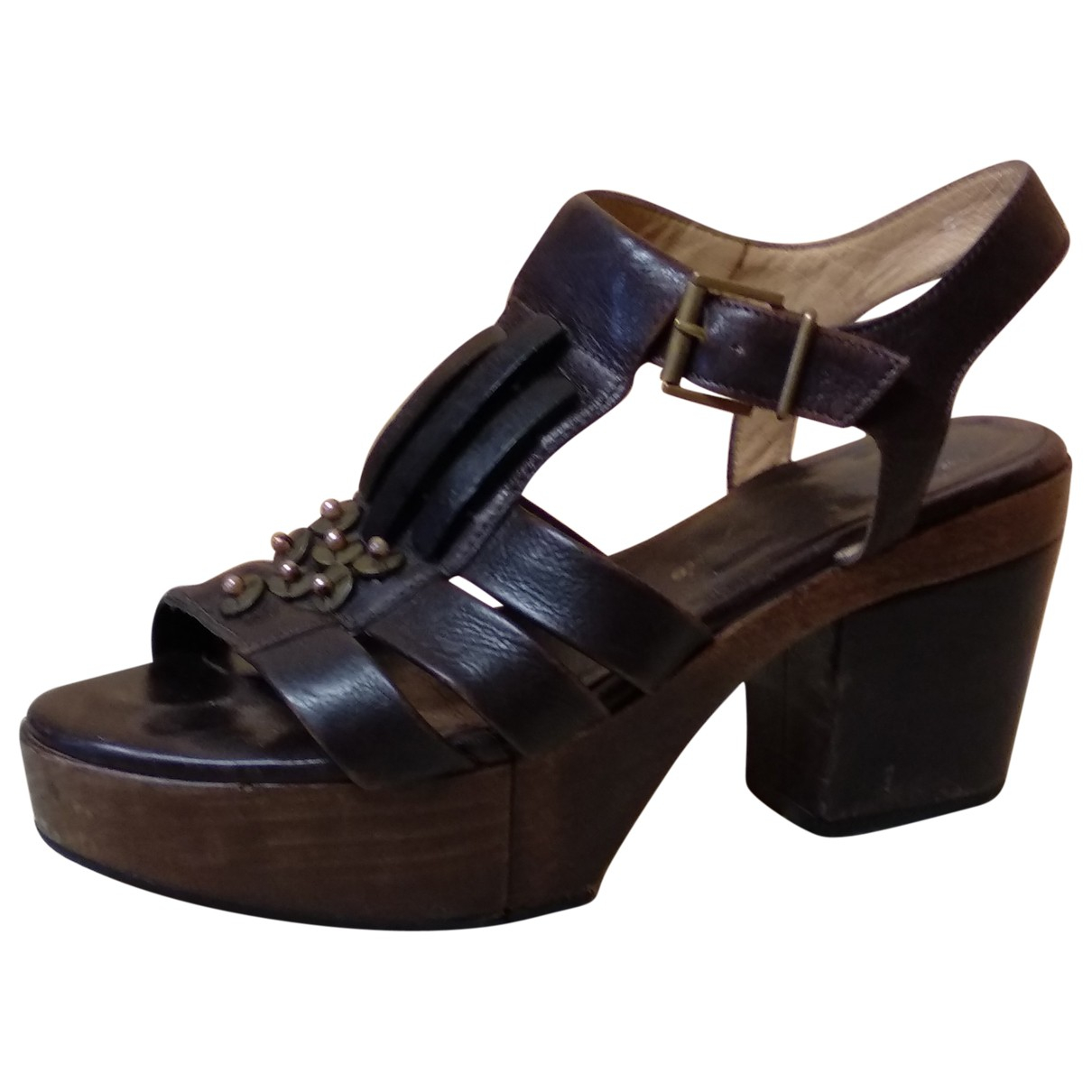 Robert Clergerie \N Brown Leather Sandals for Women 37 EU