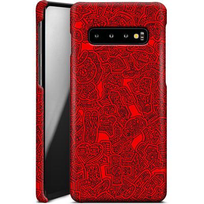 Samsung Galaxy S10 Smartphone Huelle - Red Black von Mattartiste