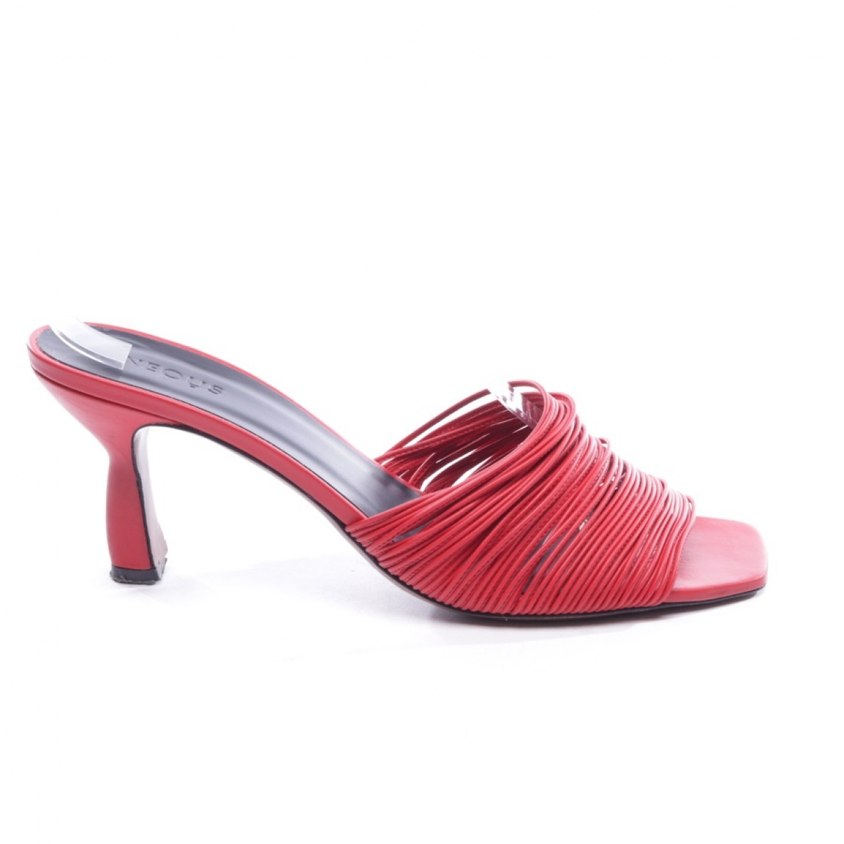 Neous - Sandales   pour femme en cuir - rouge