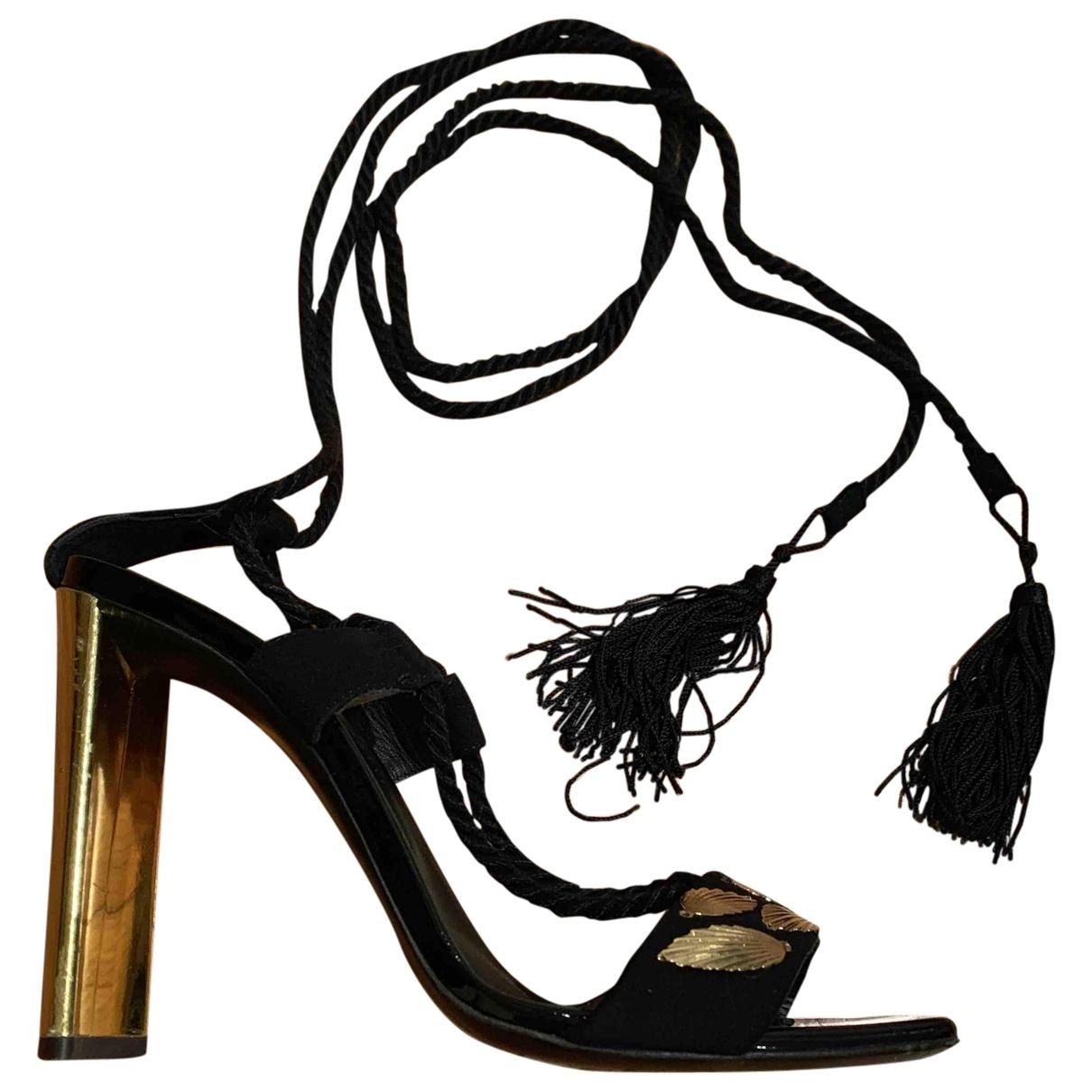 Giuseppe Zanotti \N Black Suede Sandals for Women 39 EU