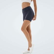 Vutru shorts deportivos de cintura ancha unicolor con bolsillo de movil