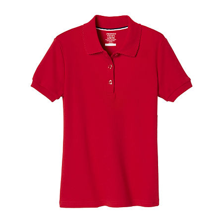 French Toast Big Girls Short Sleeve Polo Shirt, X-large , Red