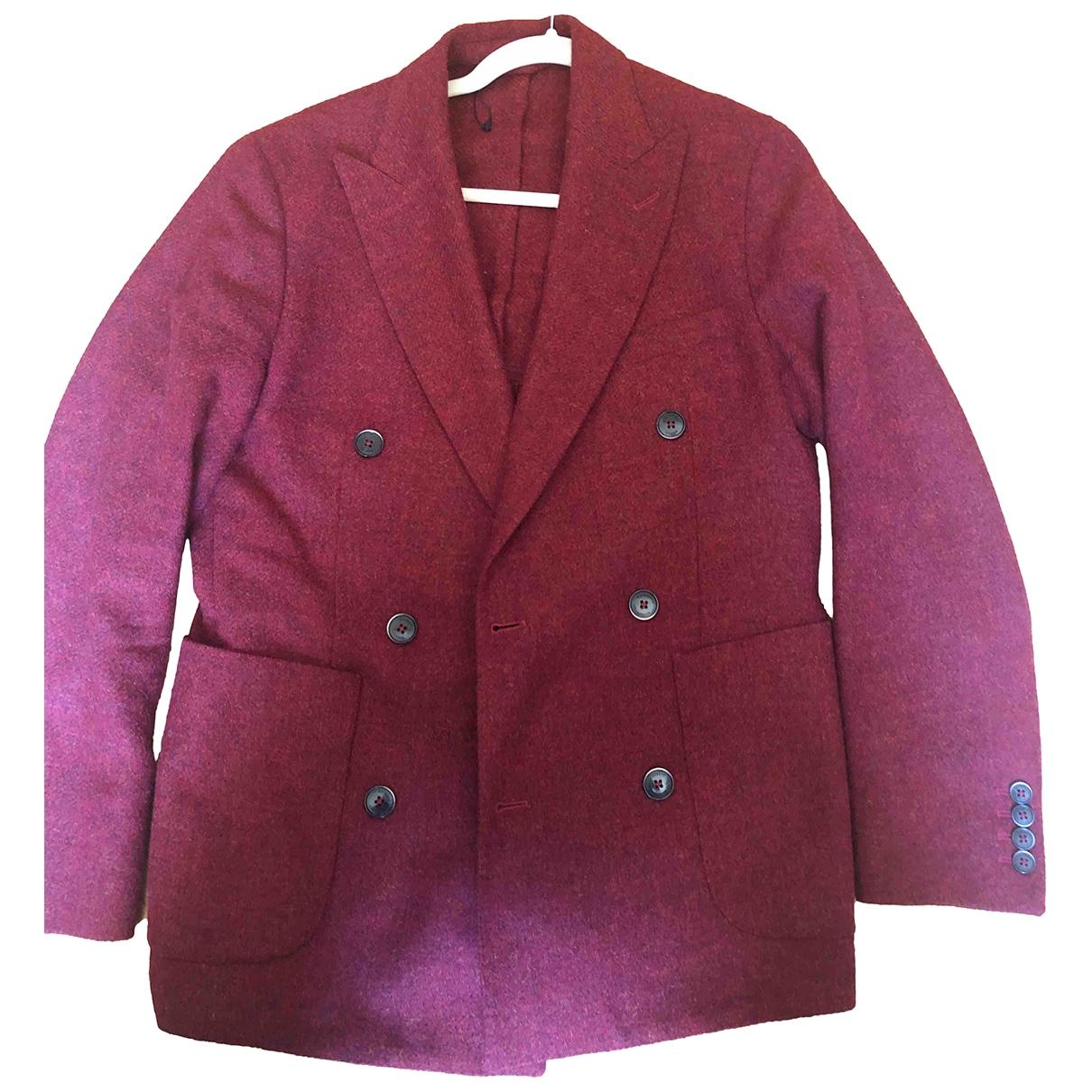 Hackett London - Vestes.Blousons   pour homme en laine - rouge