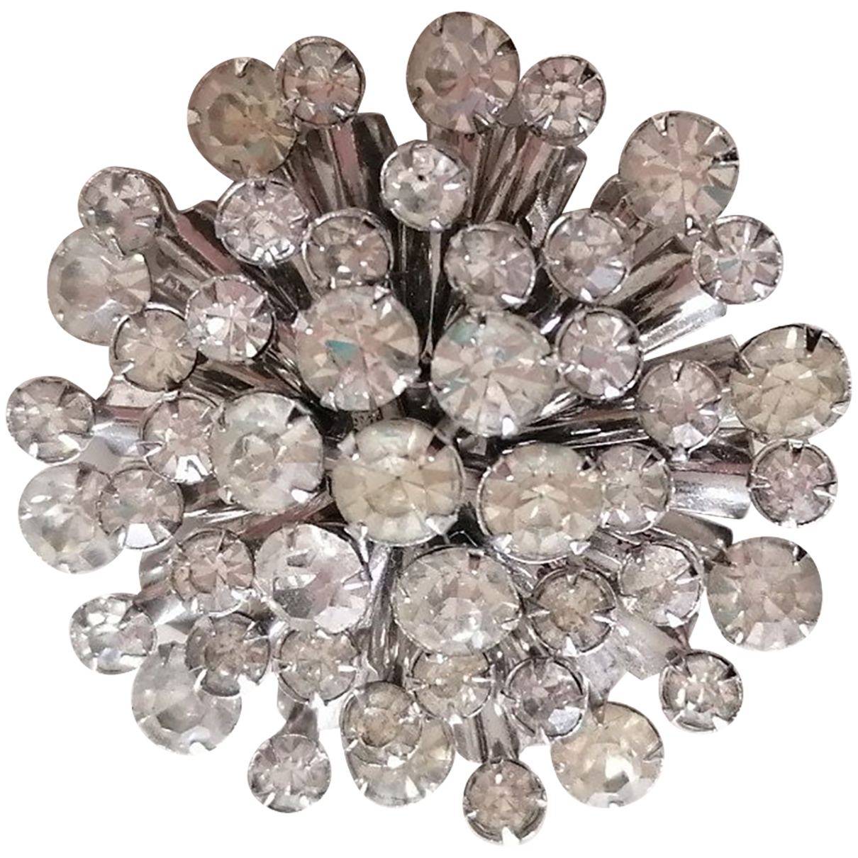 Non Signé / Unsigned Saphir Silver Crystal Pins & brooches for Women \N