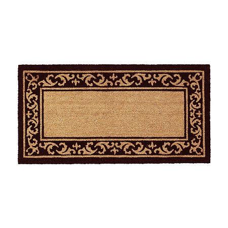 Kendall Rectangular Outdoor Doormat, One Size , White