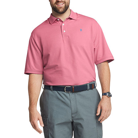 IZOD Mens Cooling Short Sleeve Polo Shirt - Big and Tall, 4x-large , Pink