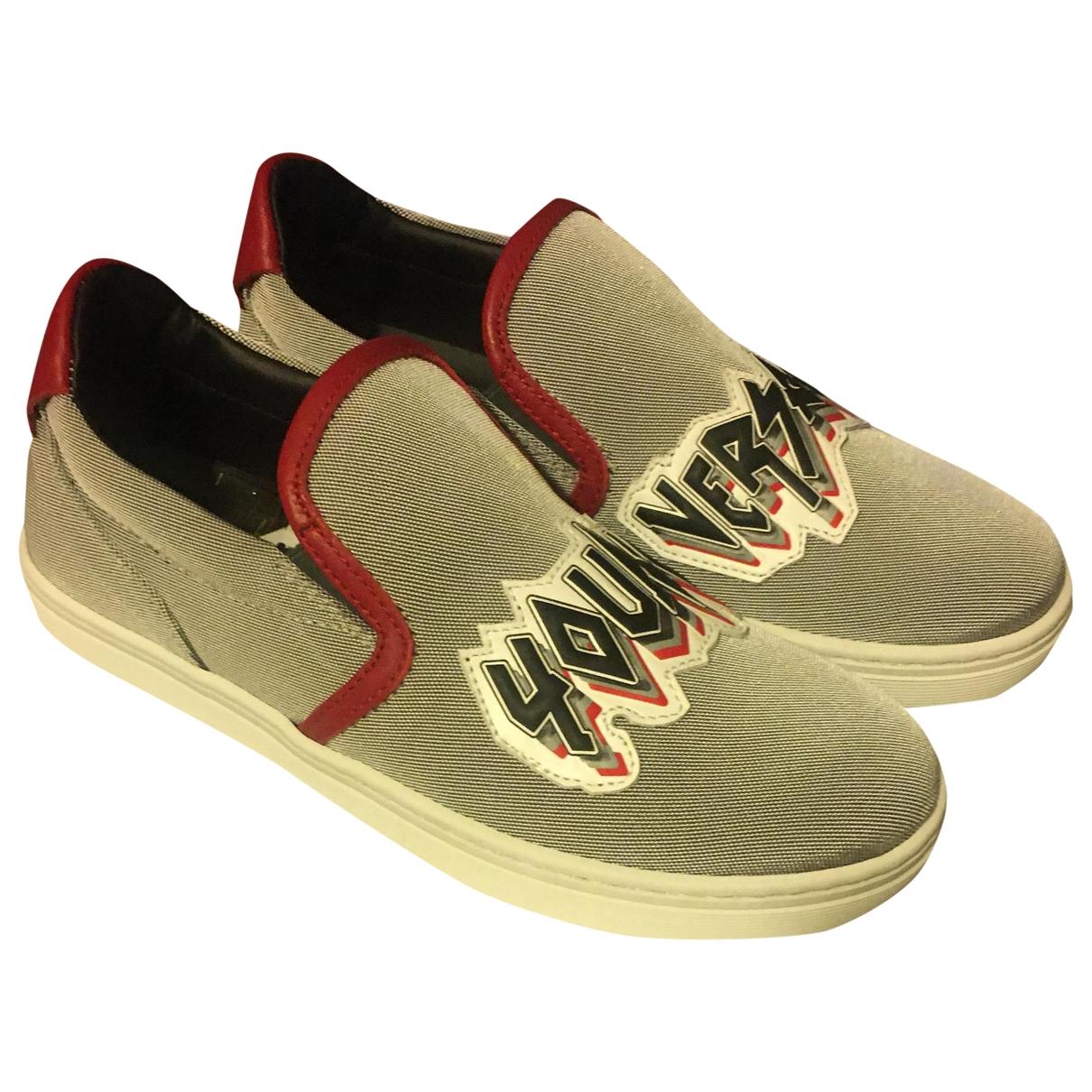 Versace \N Sneakers in  Grau Leinen