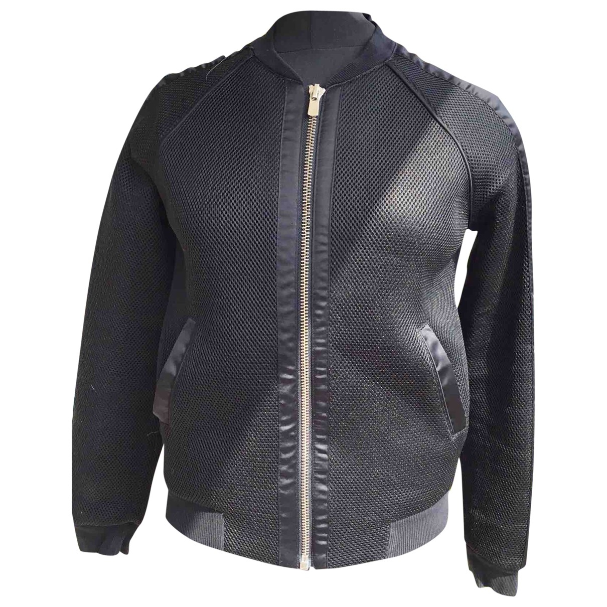 Maje \N Black Leather jacket for Women 38 FR