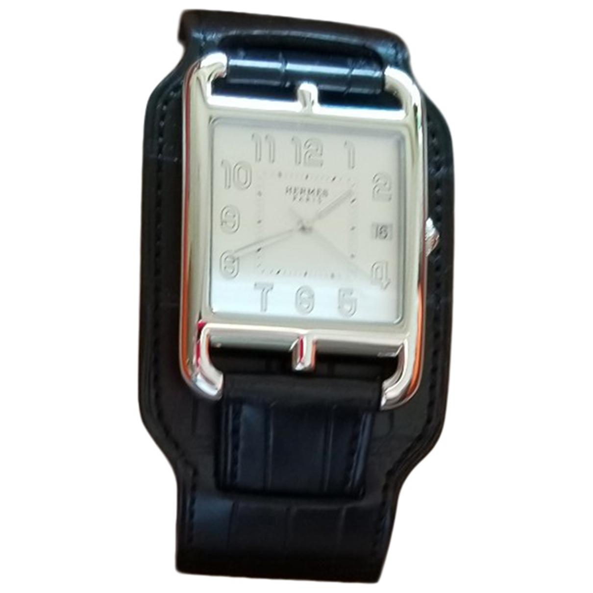 Hermes Cape Cod TGM Uhr in  Schwarz Stahl