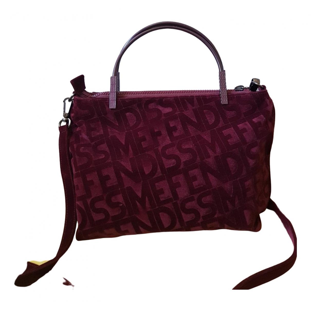 Fendissime \N Burgundy Velvet handbag for Women \N