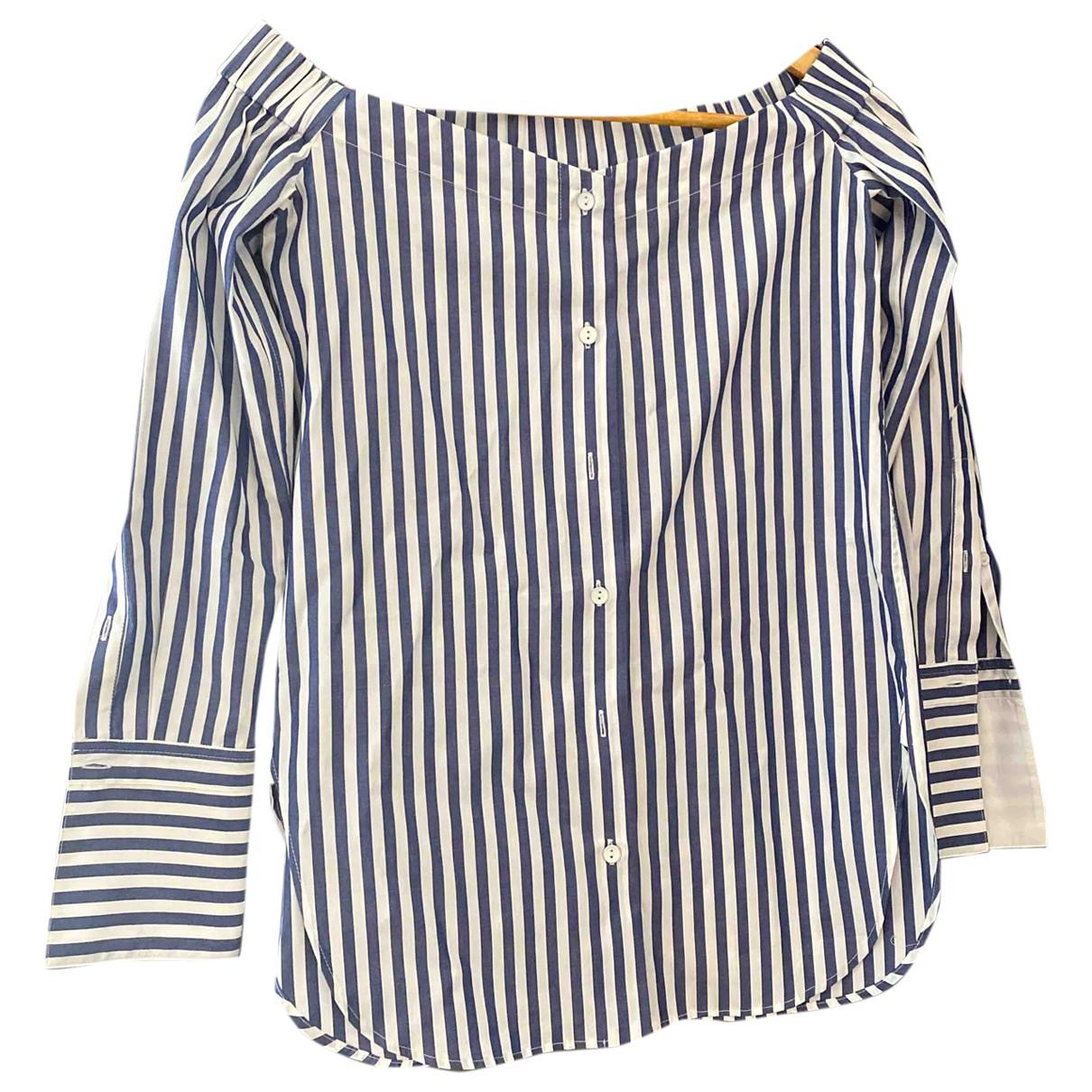 Rag & Bone - Top   pour femme en coton - bleu