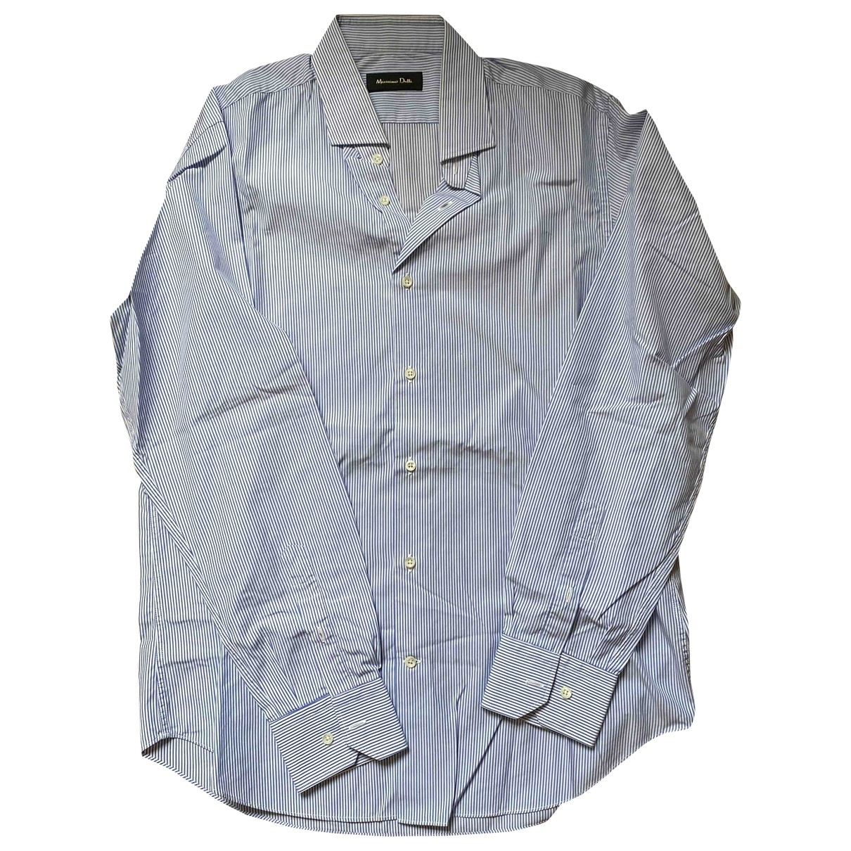 Massimo Dutti - Chemises   pour homme en coton - blanc