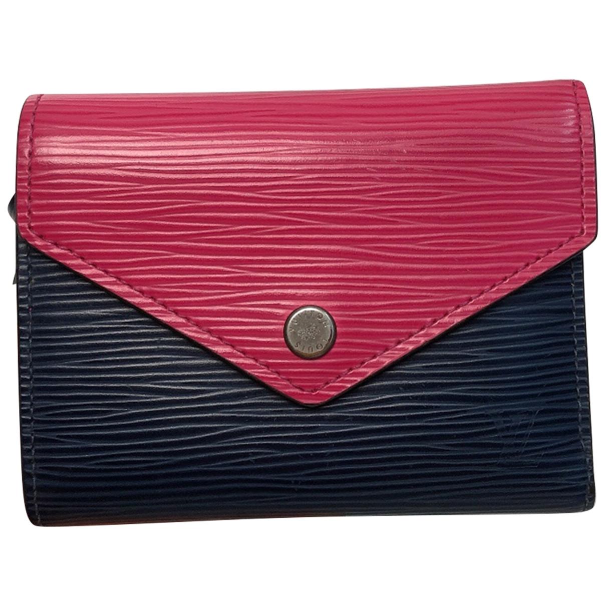 Louis Vuitton Sarah Portemonnaie in  Marine Leder