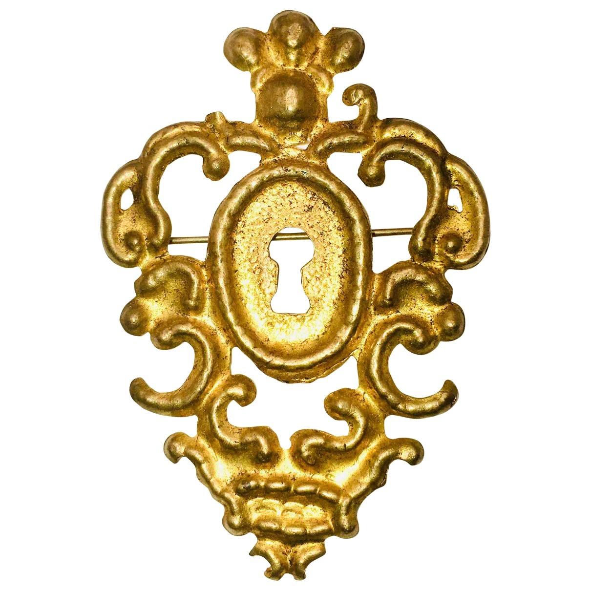Rochas - Broche   pour femme en plaque or - dore