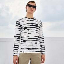 Men Splash Print Pullover
