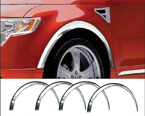 Quality Automotive Accessories 4-Piece Stainless Steel Wheel Well Fender Ford Edge 2012