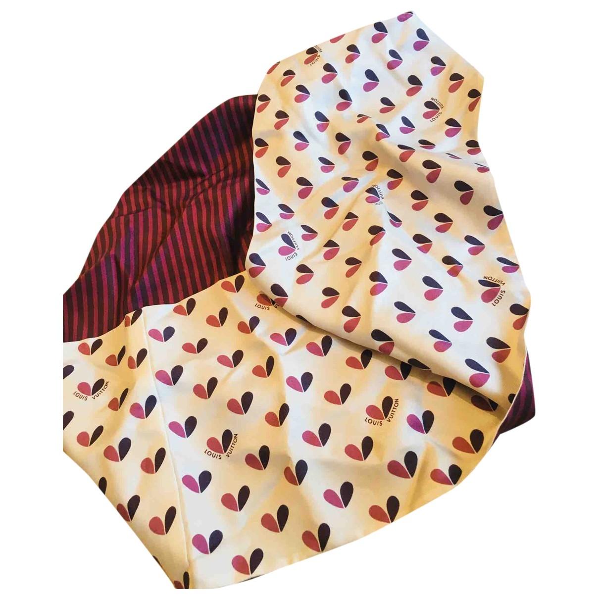 Louis Vuitton \N Burgundy Silk scarf for Women \N