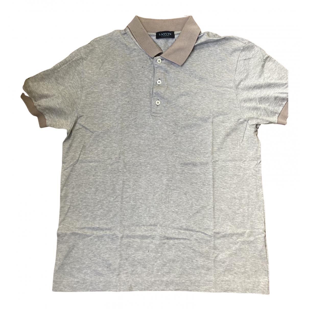 Lanvin - Polos   pour homme en coton - gris