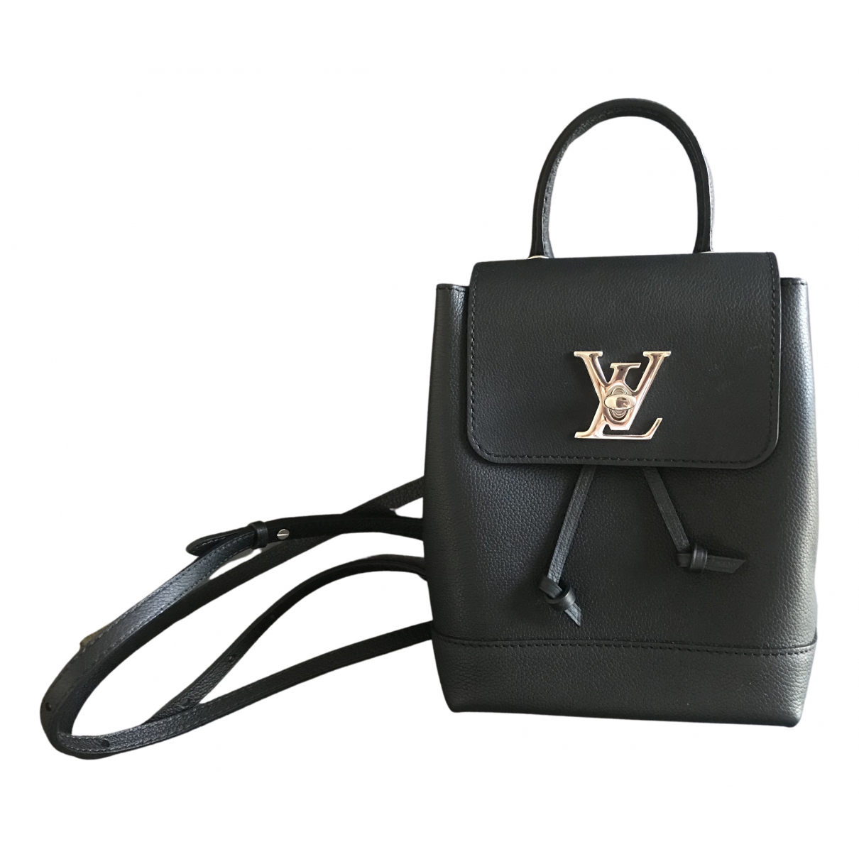 Louis Vuitton Lockme Rucksaecke in  Schwarz Leder