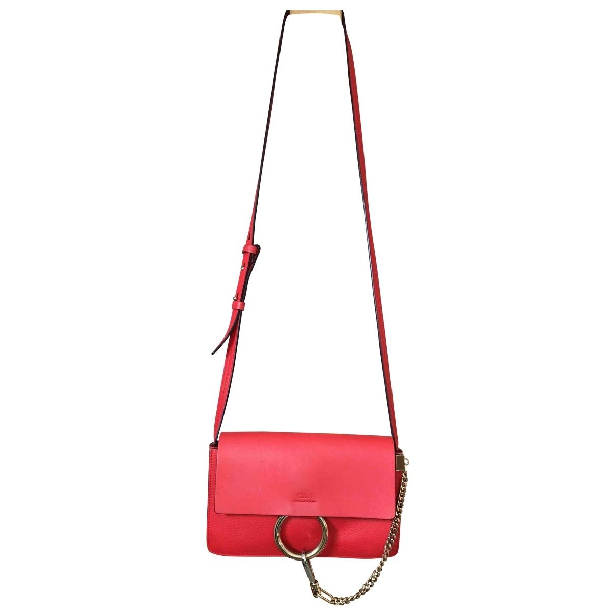 Chloe Faye Handtasche in  Rot Leder
