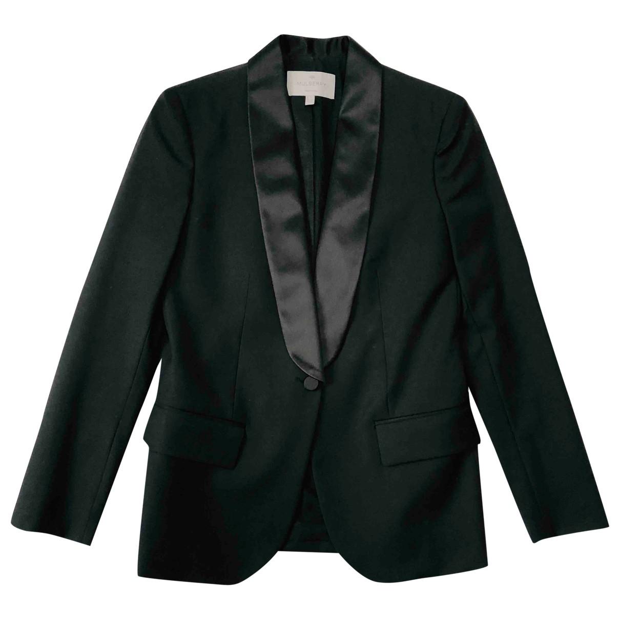 Mulberry \N Black Wool jacket for Women 8 UK