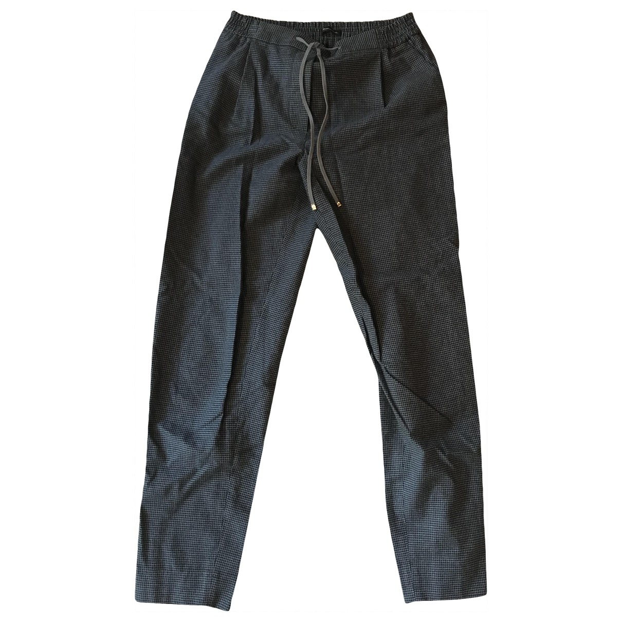 Massimo Dutti \N Grey Cotton Trousers for Women 36 FR