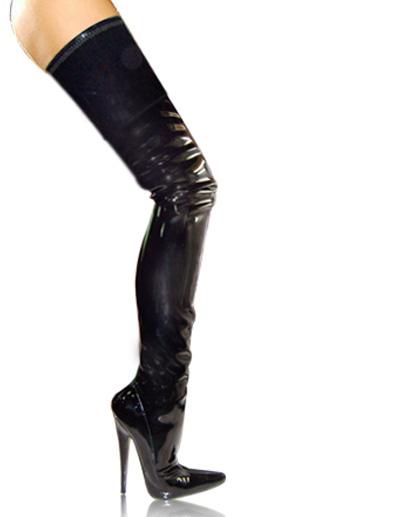 Milanoo Botas negras de punta de tacon alto de estilo sexy